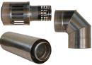 Коаксиальный дымоход для газовых каминов Karma Style 1000 мм в Краснодаре