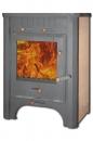 Печь-камин ЭкоКамин Бавария с плитой и теплообменником (ПКПТ 007)