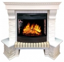 Портал Royal Flame Pierre Luxe белый сланец угловой для очага Dioramic 25 в Краснодаре